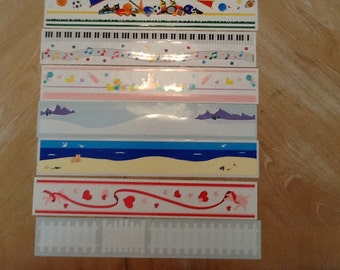 Mrs Grossman's Assorted Colors Design Lines Stickers 7 Strips 0105