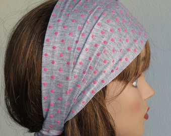 SALE Headband Woman Accessory Head Band Polka Dot Print Woman Headband