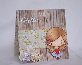Hello Card with Greeting Farm stamp