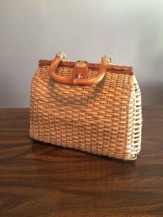 Vintage Straw Handbag By Litterandvintage On Etsy