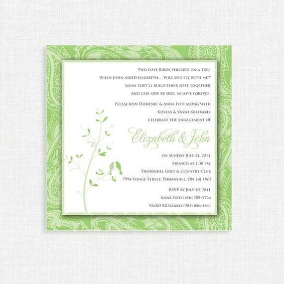 Love Birds Bridal Shower Invitation - Printable Love Birds Bridal Shower Invitation - Love Birds Invitation - Bridal Shower