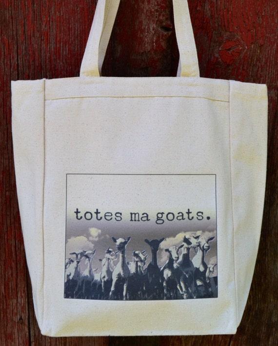 Totes Ma Goats Canvas Tote Bag Standard Size by NebraskaLane