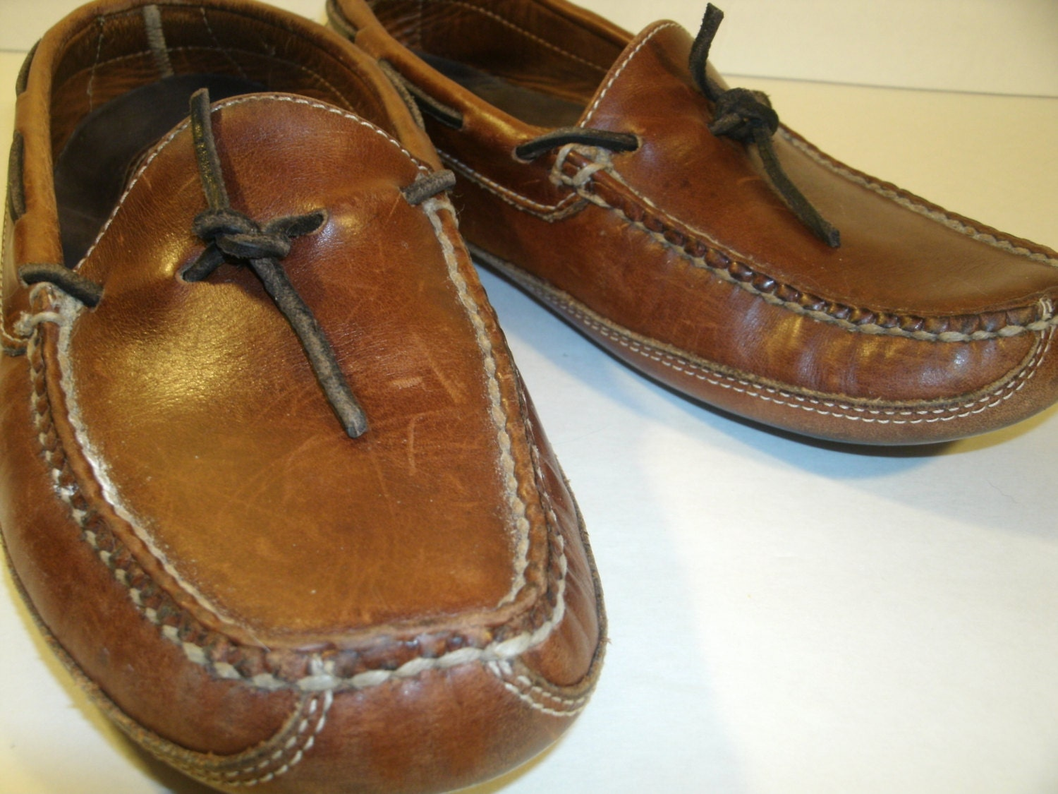 Ll Bean Soft Sole Moccasins Brown Leather Women S Size 8