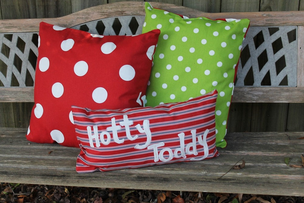 Christmas Decor Outdoor Pillows Personalization