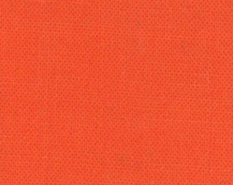 Bella Solid Clementine Orange Fabric 1/2 Yard
