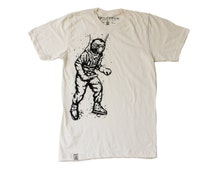 Vintage Deep Sea Diver: Men's Organic Fine Jersey Short Sleeve T-Shirt in Unbleached Natural