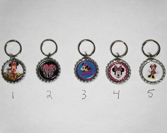Minnie Mouse Zipper Pull or Key Chain