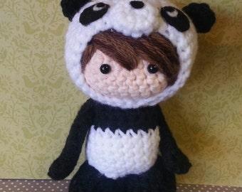 Panda girl Amigurumi