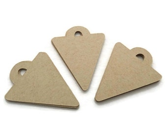 Kraft Tags - Arrowhead - Kraft Gift Tags - Hang Tags -  55 Count - 2.0 x 1.5 inches - Die Cut Tags - Holiday Tags - Jewelry Tags