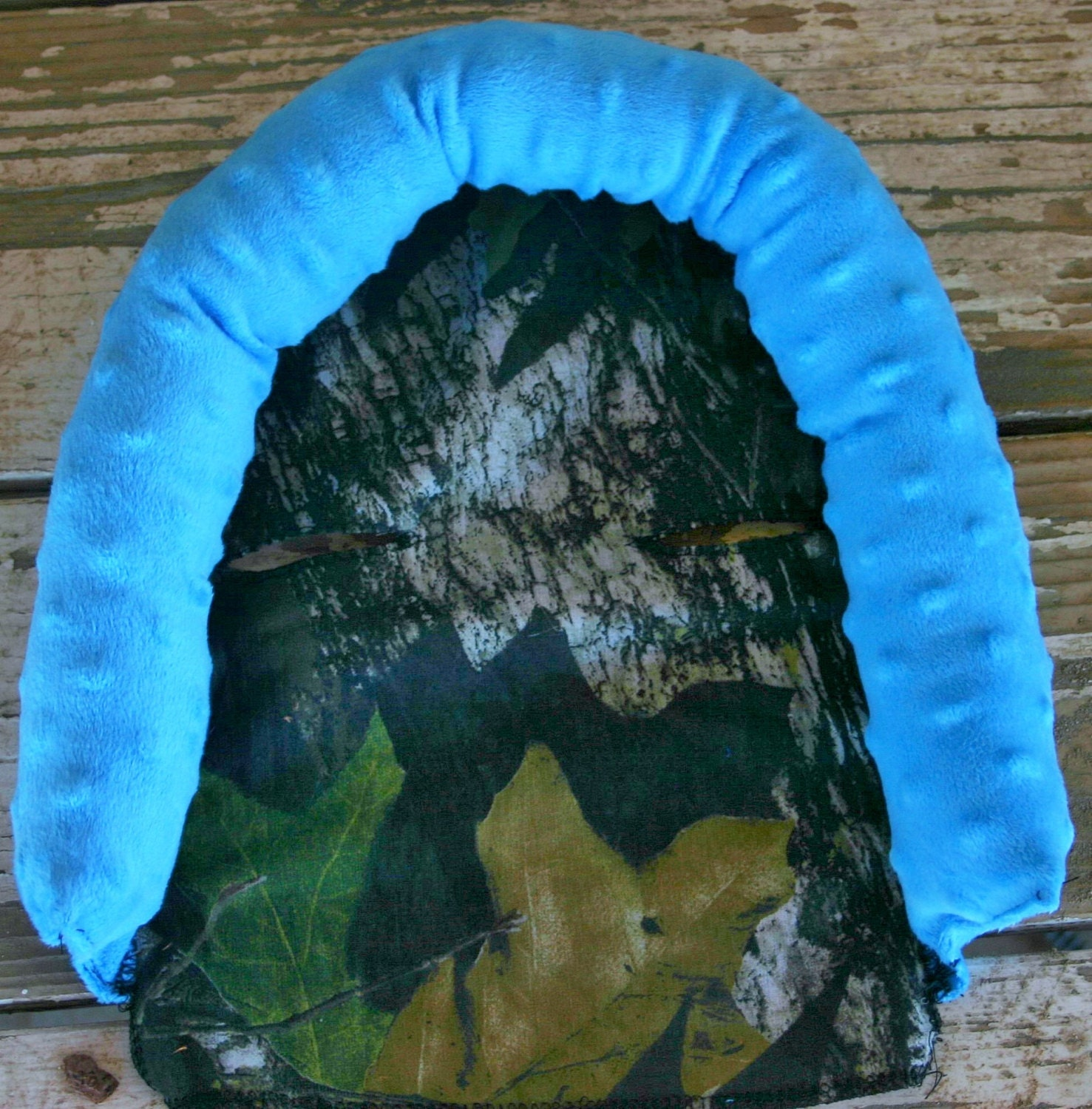Mossy Oak And Teal Turquoise Minky Infant Car Seat Head