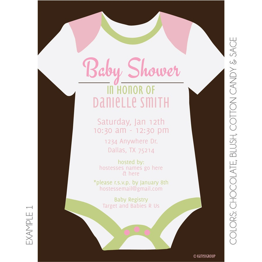Onesie Baby Shower Invitation Printable