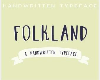 Folkland - A Handwritten Typeface - Font