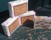 Black Raspberry Vanilla Cold process soap leopard print