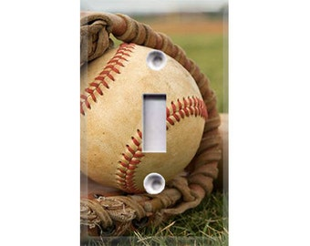 Baseball Light Switch Cover