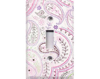 Bella Pink Paisley Light Switch Cover