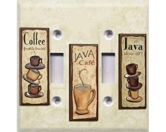 Coffee Java Double Light Switch Cover