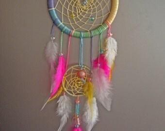 Pastel Dream Catcher,Rainbow Dream Catcher,Etsy Gift,Home Décor,Wall Décor,Wall Hanging,Wedding Gift,Large Dream Catcher,Nursery Decor