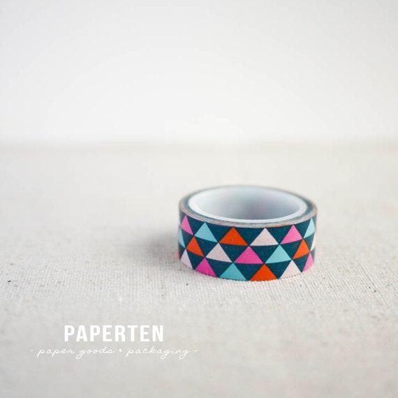 Triangles geometric washi tape masking tape washi paper for Geometric washi tape designs