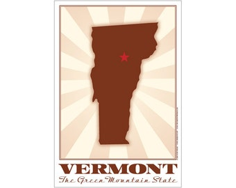 Vermont State Poster