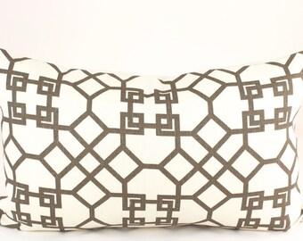 Kravet PELAGOS Designer Pillow Cover Lumbar in Clove, Accent Pillow, Toss Pillow, Throw Pillow, Decorative Pillow, Geometric Pillow