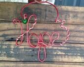 Handmade Wire Hope Ornament