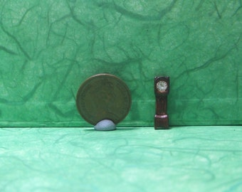 1/144th Scale, Grandfather Clock, Micro mini, Long case Clock,Teeny,Tiny, Cottage, Mini Micro Scale, Homestead, Rustic, Victorian, Dollhouse