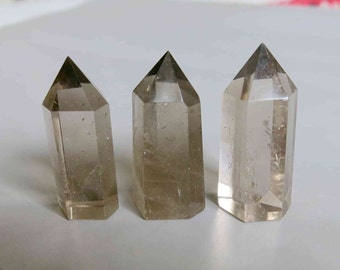 Handmade Polished Smoky Quartz Point 40mm x 14mm - B529