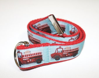 Fire Truck Belt for Children- D-Ring