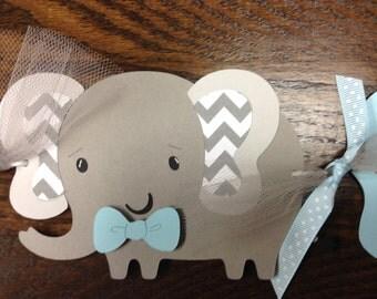 It's a Boy Chevron Elephant Banner