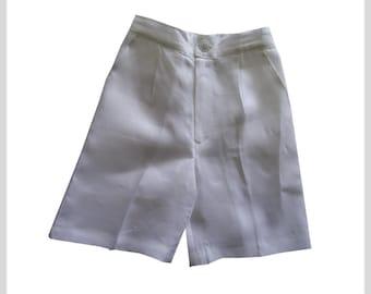 Boys linen shorts, White Linen Short, Linen Short infant, toddler shorts, Bermudas, Beach  #BS49