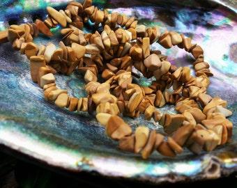 Picture Jasper (Bigg's Brown Jasper) ~ One 36 inch Reiki infused chip bead strand