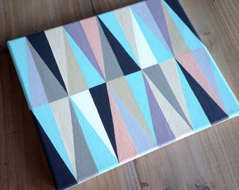 "Colorful Geometric Painting: 8"" X 10"" acrylic on canvas"