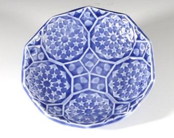 Amethyst Ring Dish - Dancing Stars Ceramic Soap Dish - Spoon Rest - Sushi Plate