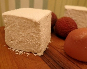 Lychee Marshmallows - 1 dozen Gourmet homemade marshmallows