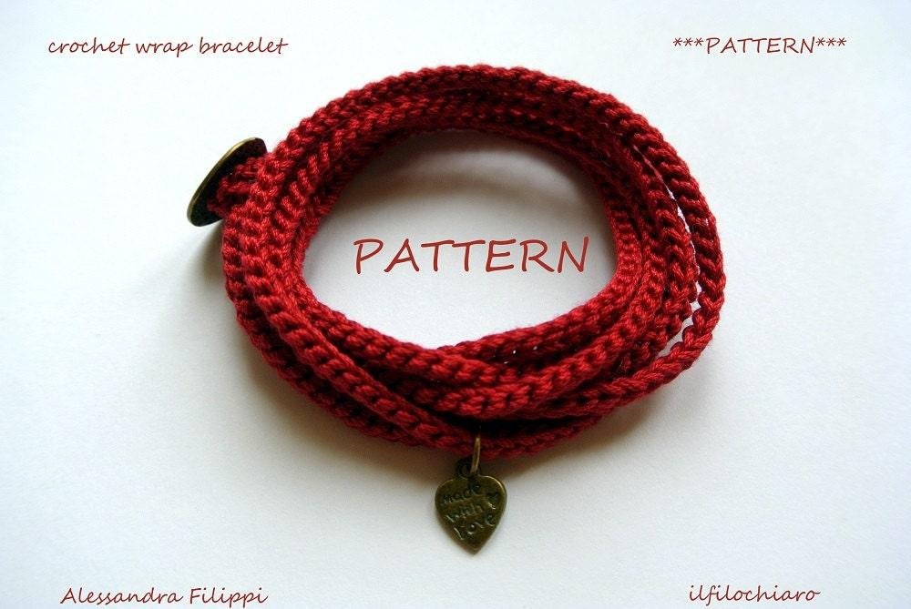 Pdf pattern schema bracciale uncinetto braccialetti for Uncinetto digitale