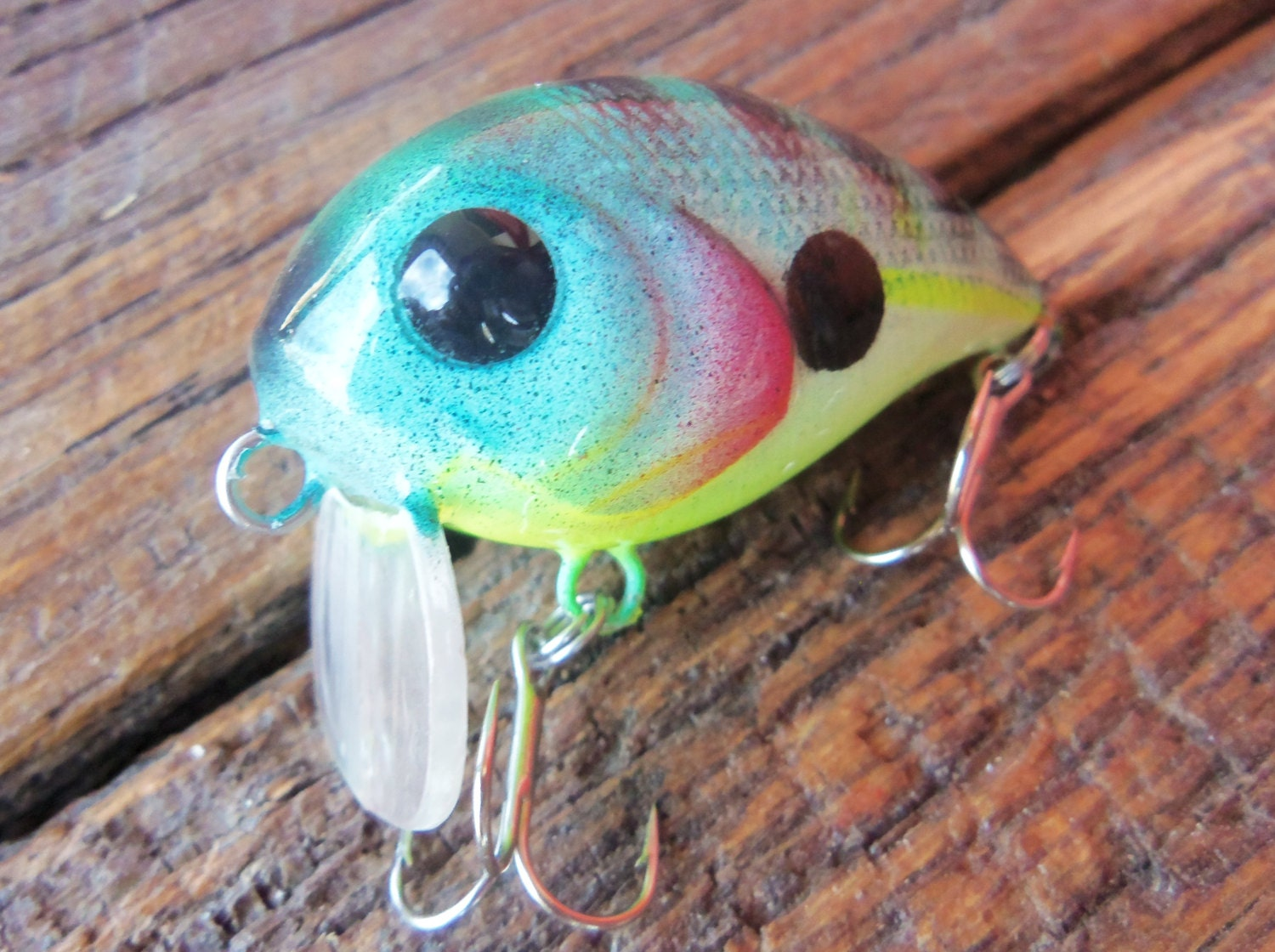Custom fishing lure fishing hook crank bait gift for fisherman for Personalized fishing lures