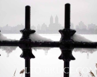 Print, Winter Landscape, Central Park Winter, NYC January 2011