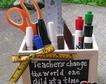 Teacher Gifts  2708D Teacher Change Supply Wood Box