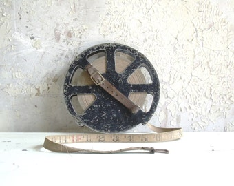 Vintage Industrial Cloth Tape Measure 150ft Bell Systems Keuffel and Esser Co.