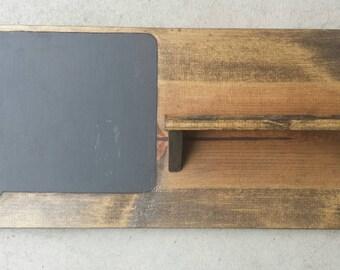 tableau noir porte cl s porte d 39 entr e tag re par wildhousedesigns. Black Bedroom Furniture Sets. Home Design Ideas