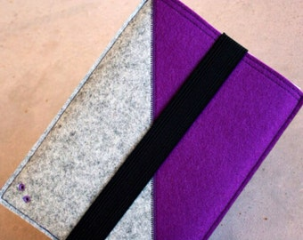 Ipad Mini sleeve - bicolor wool felt 3mm thick