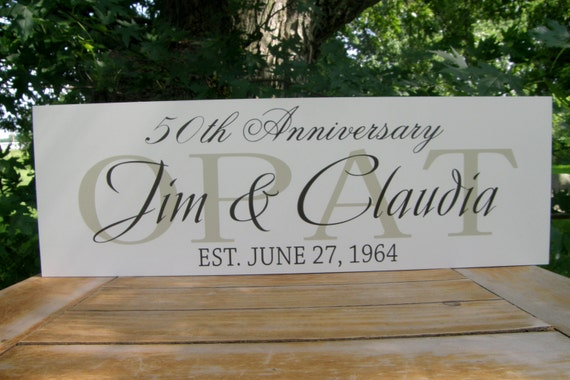 Personalised 50th Wedding Anniversary Gifts: 50th Wedding Anniversary Gifts Custom Last Name By