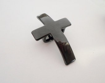 Black Plated Cross Slider with 10x7mm opening