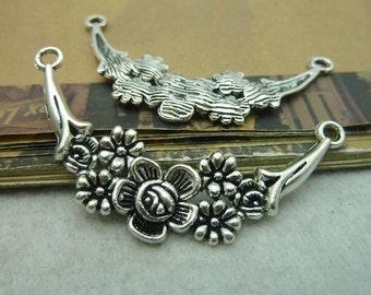 10pcs 33x58mm Antique Silver Flowering Branch Connecctors Charms Pendants Jewelry Accessories Ac5897