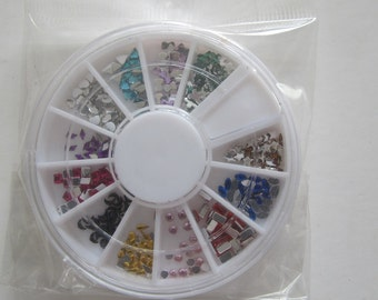 NRR07 3D 1 Wheel Types Resin Rhinestone Decoration  in wheel Shiny Nail Decoration Lovely Outlooking