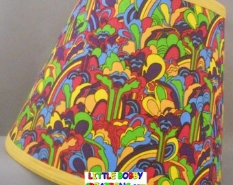 Music Beatles Fabric Lamp Shade. You Choose the TRIM COLOR! (10 Sizes to Choose From!)