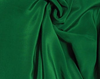 "Silk Fabric 45"" wide 12mm Pure Silk Crepe De Chine (Forest Green) by0.5 or FULL Yards Meters(crepe-587)"