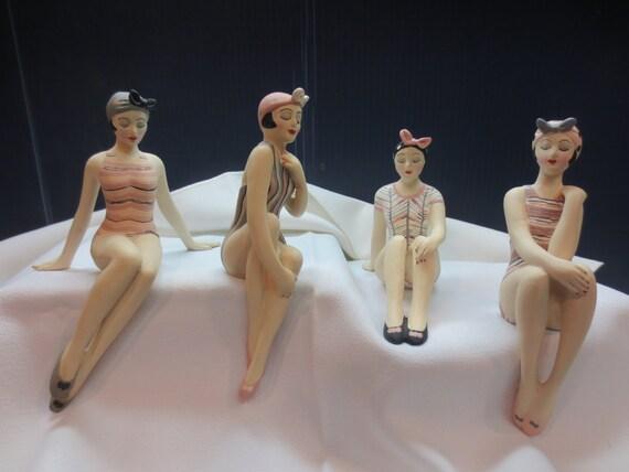 Bathing Beauties Shelf Sitter Figurines cup saucer ballerina