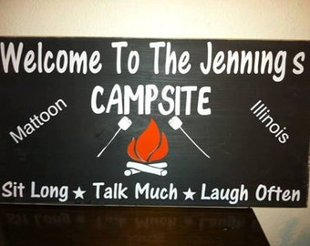 have your own campsite sign