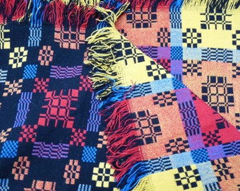 Holytex Black, Red, Yellow and Blue Wool Blanket from Wales